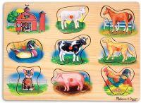 Pussel : Classic Farm Sound Puzzle - Melissa & Doug legetøj 10268