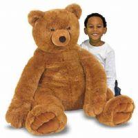 Gosedjur : Jumbo Brown Teddy Bear - Plush - Melissa & Doug legetøj 12138