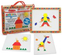 Pussel : Magnetic Pattern Block Kit - Melissa & Doug legetøj 13590