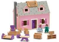 Dukkehus : Fold & Go Dollhouse - Melissa & Doug legetøj 13701