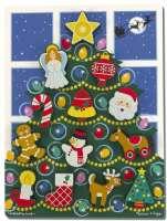 Pussel : Wooden Chunky Puzzle - Christmas Tree - Melissa & Doug legetøj 13718