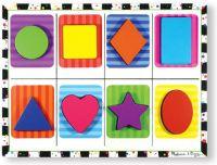 Pussel : Shapes Chunky Puzzle - Melissa & Doug legetøj 13730