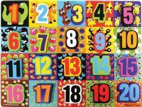 Pussel : Jumbo Numbers Chunky Puzzle - Melissa & Doug legetøj 13832