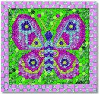 Pussel : Shiny Mosaics - Butterfly - Melissa & Doug legetøj 14293