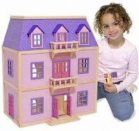 Dukkehus : Multi-Level Wooden Dollhouse - Melissa & Doug legetøj 14570