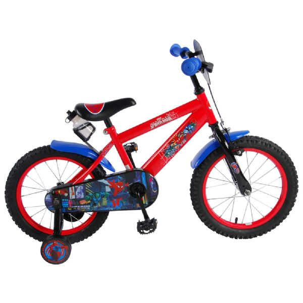 Image of Spiderman Børnecykel 16 tommer rød/sort (45-041654NL)