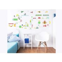 Børnemøbler : Transport Wall Stickers - Walltastic transport børneværelse 44869