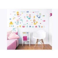 Børnemøbler : Mermaid Wall Stickers - Walltastic mermaid børneværelse 45040