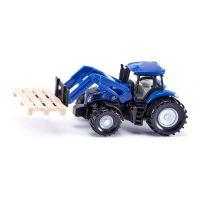 Siku : Tractor With Fork And Pallet - Siku 1487 Stålbiler