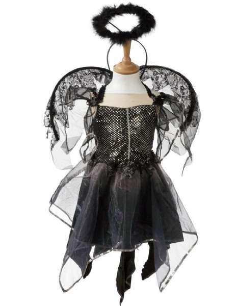 Svart ängel med ära 116 cm - Verkligt namn och Halloween 00 Shop ... 19b3fc1c698c9