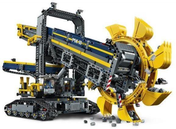 Image of Gravemaskine med skovlhjul Excavator - Lego 42055 Excavator Technic (02-042055)