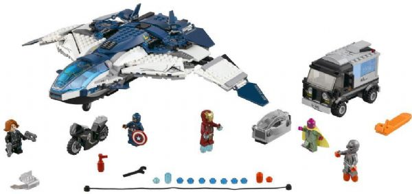 Image of Avengers quinjet - kampen i byen - Lego 76032 Super Heroes (02-076032)