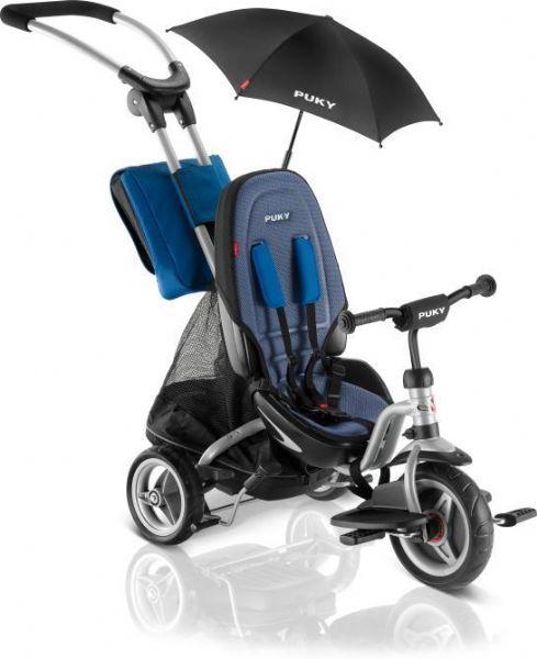 Image of   Puky Carry Premium Trehjuler sølv/blå - Puky Cat S6 Ceety 2412