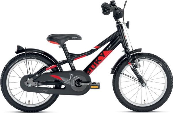 Image of   Børnecykel sort/rød 16 tommer - Puky cykel zlx 16-1 alu 4270