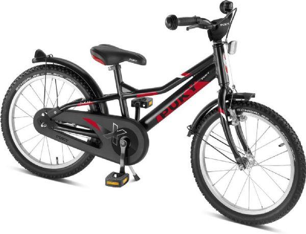 Image of   Børnecykel sort/rød 18 tommer - Puky cykel zlx 18 alu 4370