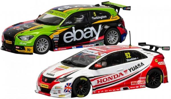 Image of British Touring Car Champions 2014 & 201 - Scalextric Biler C3694A (07-0C3694A)