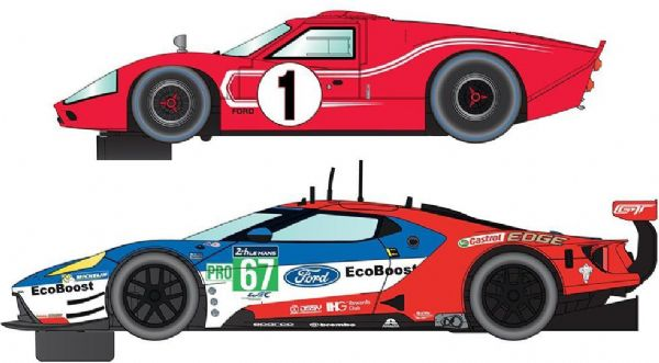 scalextric 50 years of le mans ford gt mkii and gte - scalextric biler c3893a på eurotoys