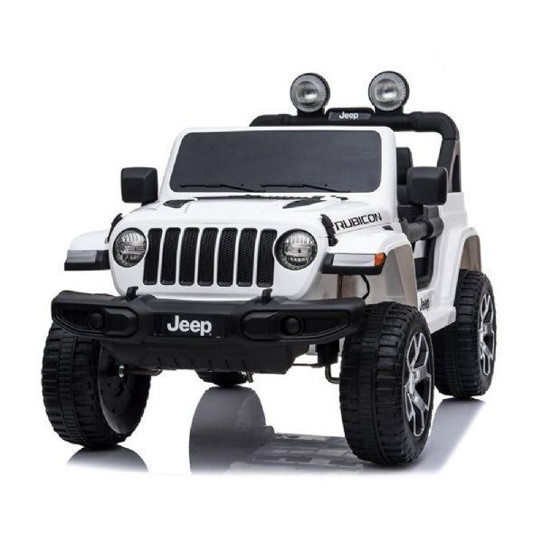 Image of   Jeep Wrangler Rubicon Elbil 4x12V hvid - Elbiler til børn 001715