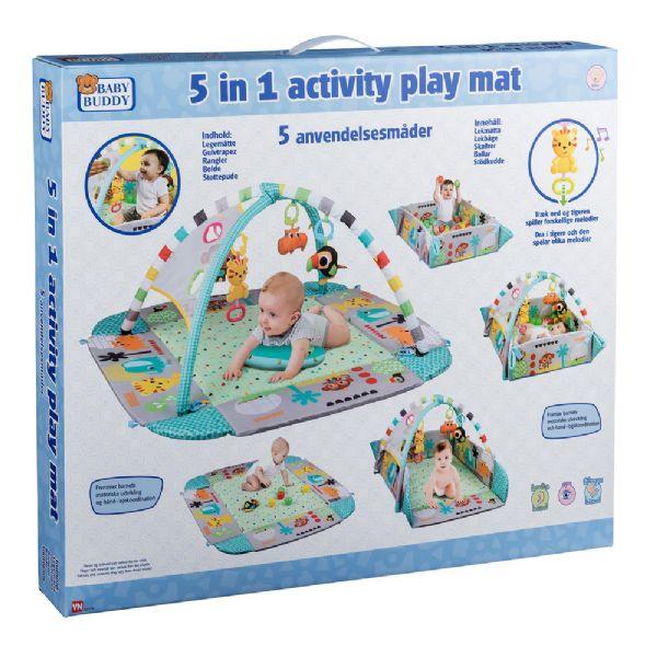 Image of   5 i1 aktivitets legemåtte - Baby Buddy legetæppe 551719