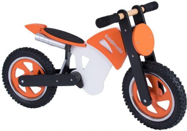 Image of   Kiddimoto Scrambler - Orange/Hvid - Løbecykel 720233