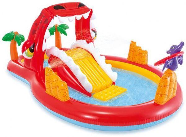 Image of Happy Dino Play Center pool 259x165x107 - Intex Pool og badeudstyr 57160NP (101-057160)
