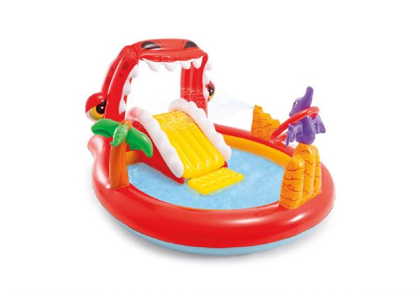 Image of   Happy Dino Play Center 196x170x107cm - Intex Pool og badeudstyr 57163