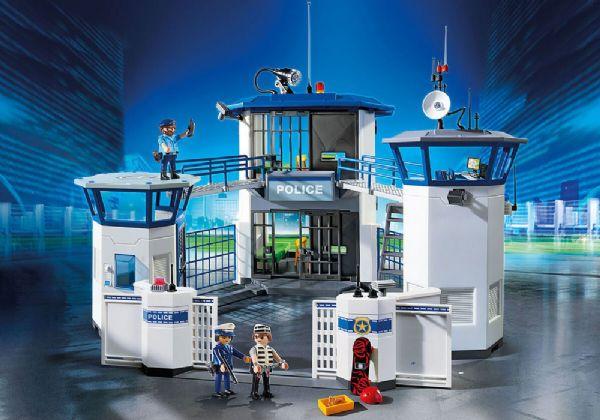 Politihovedkvarter med fængsel - playmobil politistation 6919 fra playmobil på eurotoys