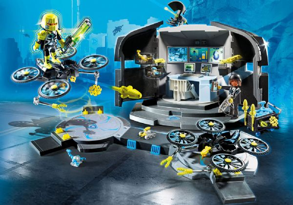 Image of Dr. Drones kommandocentral - Playmobil Top Agents 9250 (13-009250)
