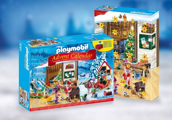 Image of   Julekalender julemandens værksted - Playmobil Julekalender 9264