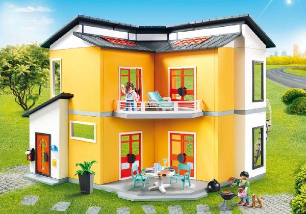 Image of   Moderne feriehus - Playmobil Dukkehus 9266
