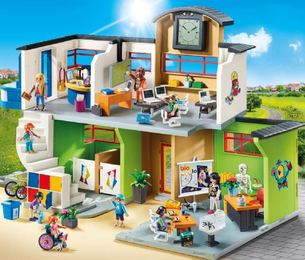 Image of Møbleret Skolebygning - Playmobil City Life 9453 (13-009453)
