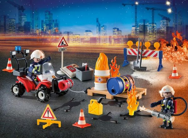 Image of   Julekalender Brand på Byggepladsen - Playmobil Julekalender 9486
