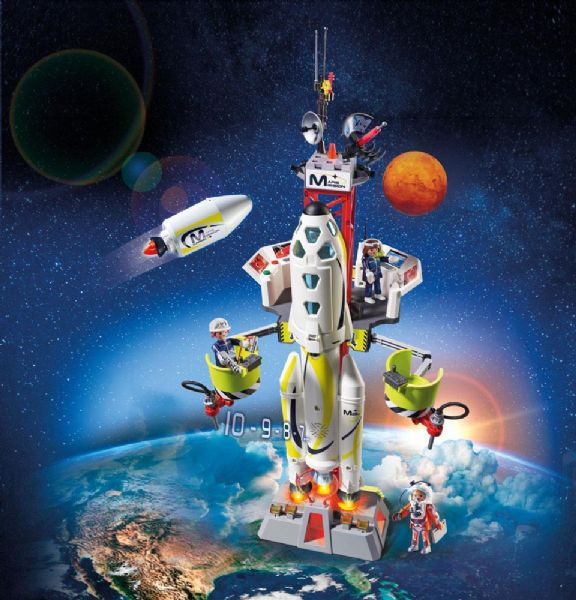 Image of Mars Raket med affryringsrampe - Playmobil Space 9488 (13-009488)