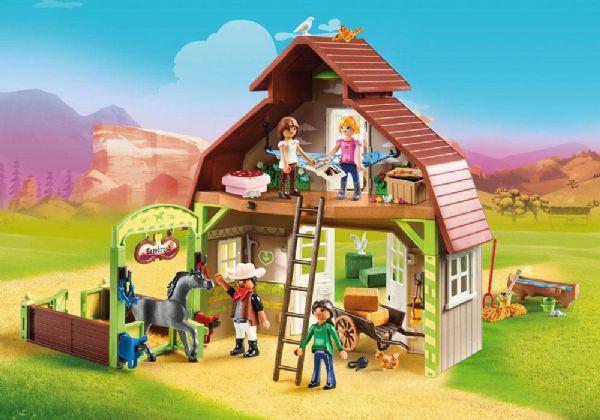 Image of Lade med Lucky, Pru og Abigail - Playmobil Spirit 70118 (13-070118)