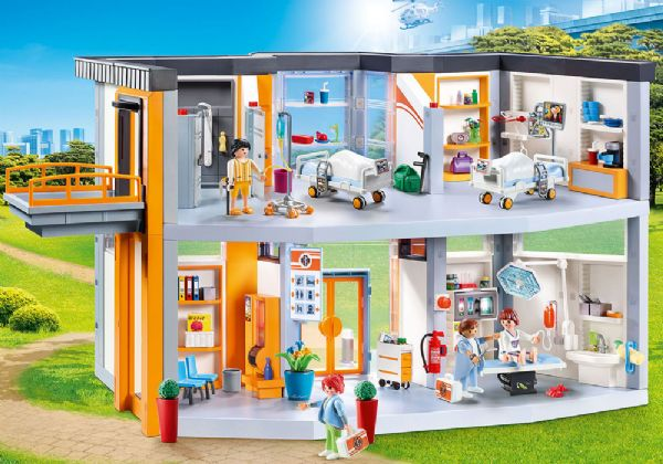 Stort sygehus med møbler - playmobil city life 70190 fra playmobil på eurotoys