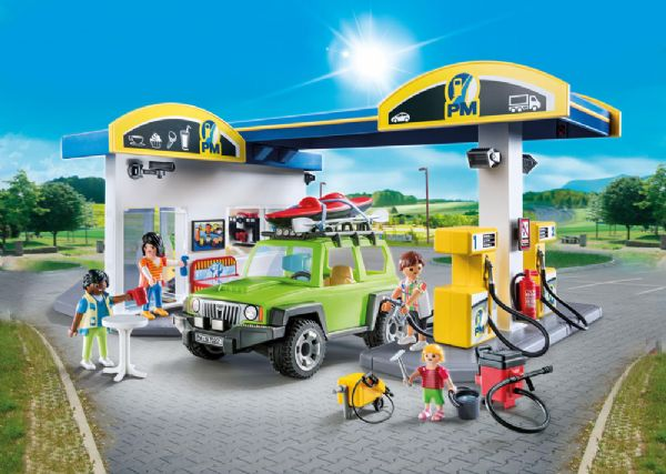 Image of Stor tankstation - Playmobil City Life 70201 (13-070201)