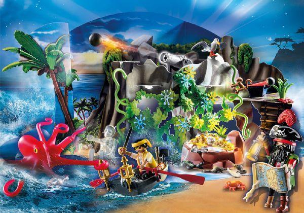 Julekalender Skattejagt i Piratbugten - Playmobil Jul 70322