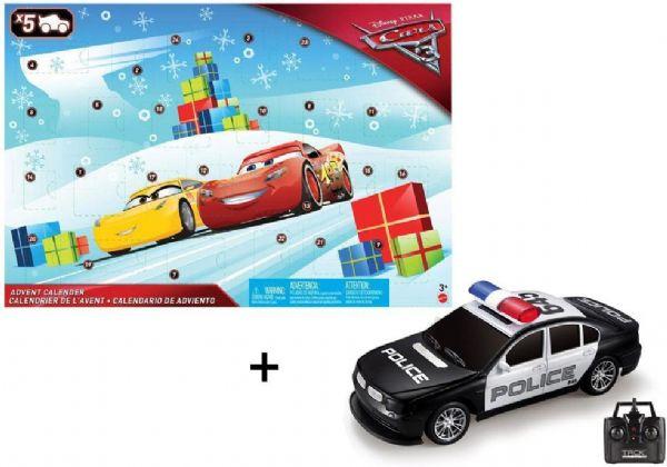 Image of   Cars 3 julekalender + fjernstyret bil - Disney Cars 3 2017 pakkekalender FGV14X