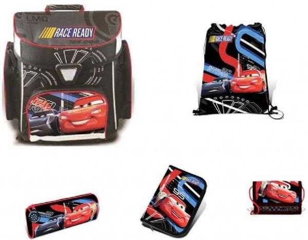 Image of Cars Skoletaske sæt 5 dele - Cars Lynet McQueen skoletaske 763411 (140-763411)