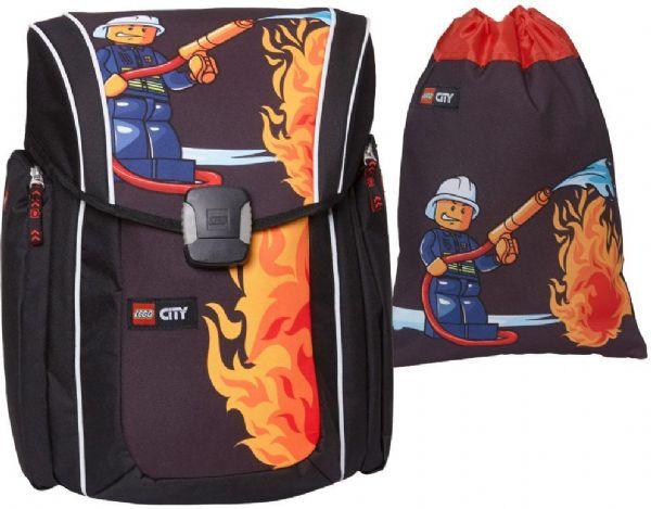Image of   City fire Xtreme Skoletaske - LEGO Skoletaske 16151
