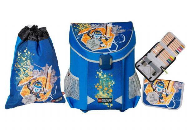 Nexo Knights Skoletaskesæt 3 dele - LEGO Bags Skoletaske 36522 - Skoletasker og tasker - Lego Skoletaske