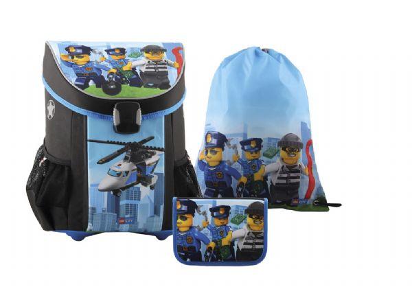 Image of   Lego City Skoletaskesæt 3 dele - LEGO Bags Skoletaske 151835