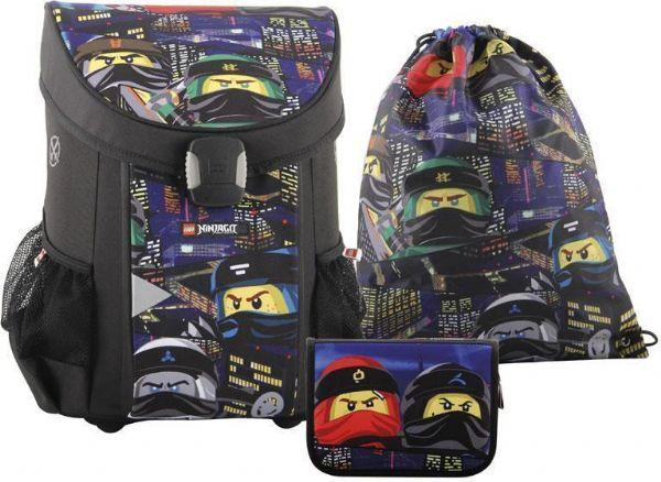 Image of   LEGO Ninjago Urban Skoletaskesæt 3 dele - LEGO Bags Skoletaske 151910