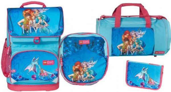 Image of   Elves Aqua blå skoletaskesæt 4 dele - LEGO skoletaske 451712