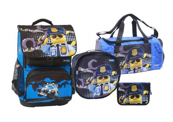 Image of   Lego City Skoletaskesæt 4 dele - LEGO Bags Skoletaske 772003