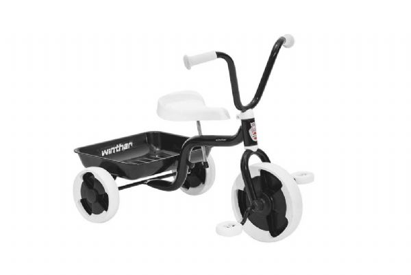 winther Trehjulet cykel m. vippelad sort - winther tricykel 40516 på eurotoys