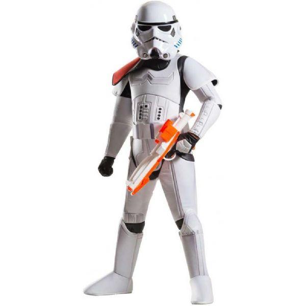 Image of   Deluxe Stormtrooper kostume 110 cm - Star Wars fastelavn og udklædning 620275