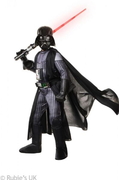 Image of   Deluxe Darth Vader kostume 140 cm - Star Wars fastelavn og udklædning 620276