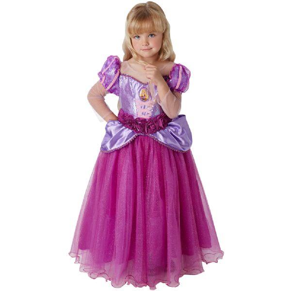 Image of   Disney Deluxe Rapunzel 116 cm - Disney Prinsesser Udklædning 630721