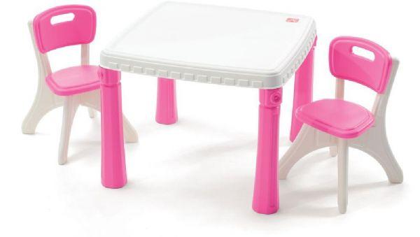 Image of   Bord og stole sæt pink - Step2 Børnemøbler 719693